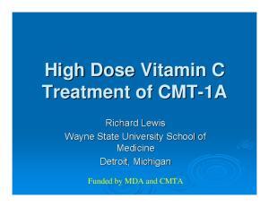 High Dose Vitamin C Treatment of CMT-1A