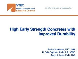 High Early Strength Concretes with Improved Durability