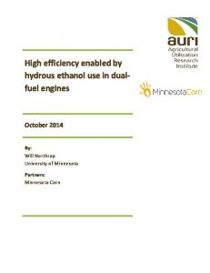 High efficiency enabled by hydrous ethanol use in dualfuel