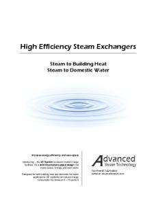 High Efficiency Steam Exchangers