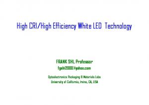 High Efficiency White LED Technology