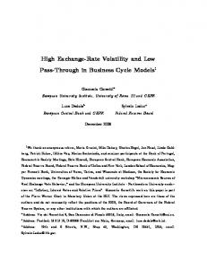 High Exchange-Rate Volatility and Low Pass-Through in Business Cycle Models 1