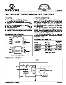 HIGH FREQUENCY 7660 DC-TO-DC VOLTAGE CONVERTER