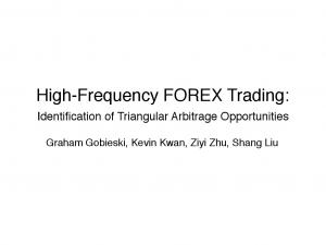 High-Frequency FOREX Trading: