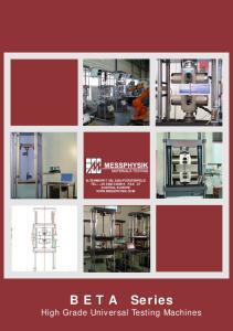 High Grade Universal Testing Machines