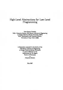 High-Level Abstractions for Low-Level Programming