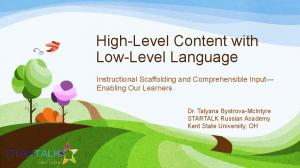 High-Level Content with Low-Level Language