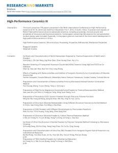 High-Performance Ceramics IX
