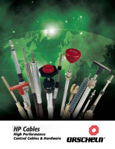High Performance Control Cables & Hardware