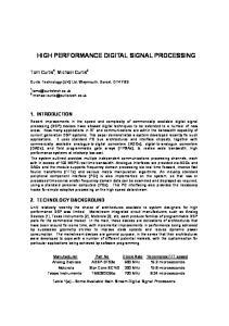 HIGH PERFORMANCE DIGITAL SIGNAL PROCESSING