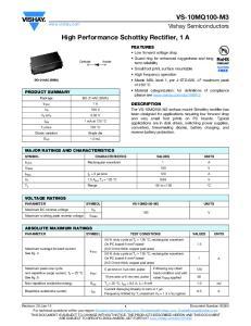 High Performance Schottky Rectifier, 1 A
