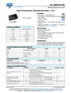 High Performance Schottky Rectifier, 1.5 A
