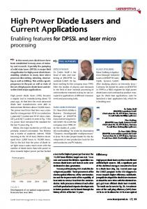 High Power Diode Lasers and Current Applications