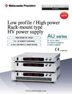 High power Rack-mount type HV power supply