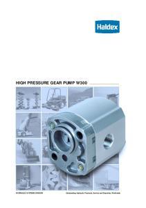 HIGH PRESSURE GEAR PUMP W300