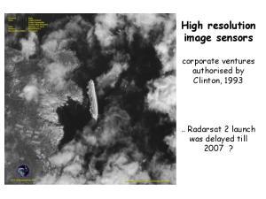 High resolution image sensors