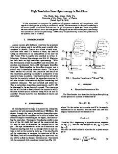 High Resolution Laser Spectroscopy in Rubidium