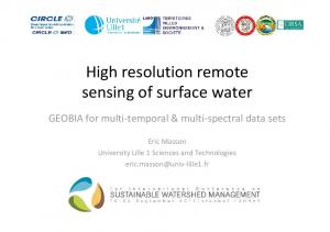High resolution remote sensing of surface water
