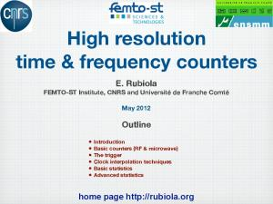 High resolution time & frequency counters