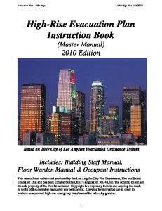High-Rise Evacuation Plan Instruction Book (Master Manual) 2010 Edition
