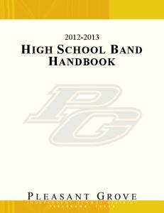 HIGH SCHOOL BAND HANDBOOK
