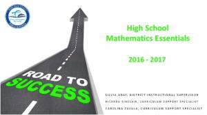 High School Mathematics Essentials