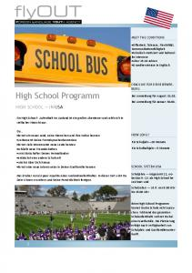 High School Programm HIGH SCHOOL IN USA MEET THE CONDITIONS