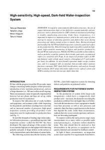 High-sensitivity, High-speed, Dark-field Wafer-inspection System