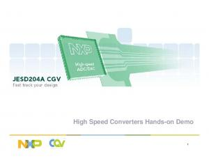 High Speed Converters Hands-on Demo