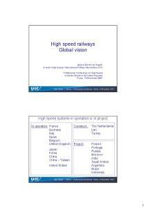 High speed railways Global vision