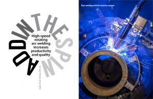 High-speed rotating arc welding increases productivity and quality