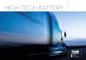 HIGH TECH BATTERY. Mobility Power Solutions