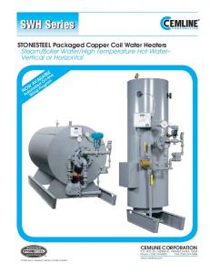 High Temperature Hot Water Vertical or Horizontal CEMLINE CORPORATION