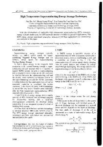 High Temperature Superconducting Energy Storage Techniques