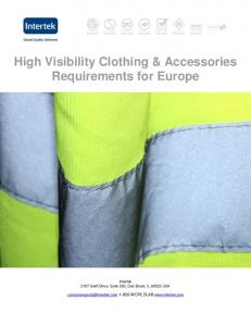 High Visibility Clothing & Accessories Requirements for Europe