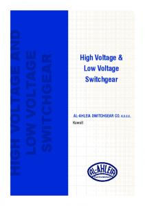 HIGH VOLTAGE AND LOW VOLTAGE SWITCHGEAR