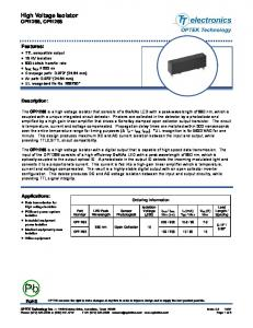 High Voltage Isolator OPI1266, OPI1268