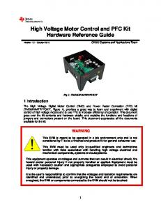 High Voltage Motor Control and PFC Kit Hardware Reference Guide