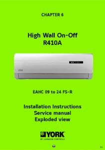 High Wall On-Off R410A