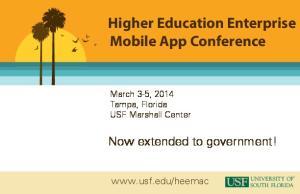 Higher Education Enterprise Mobile App Conference