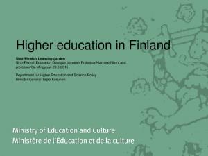 Higher education in Finland