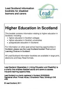 Higher Education in Scotland