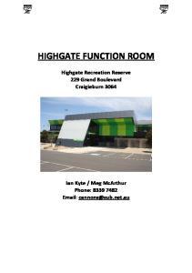 HIGHGATE FUNCTION ROOM