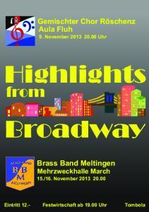 Highlights. Broadway