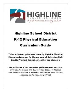 Highline School District K-12 Physical Education Curriculum Guide