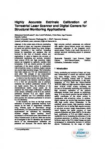 Highly Accurate Extrinsic Calibration of Terrestrial Laser Scanner and Digital Camera for Structural Monitoring Applications