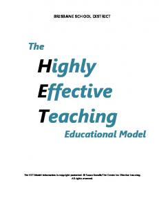 Highly Effective Teaching