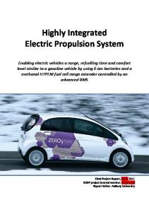 Highly Integrated Electric Propulsion System