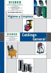 Higiene y Limpieza. Catálogo General