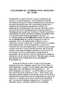 HIGIENISMO DEL PENSAMIENTO: MEDICINA DEL ALMA